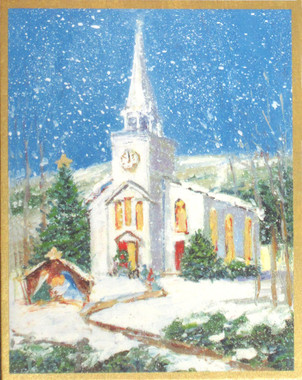 Christmas Night Christmas Card