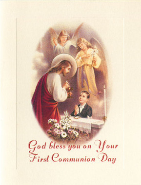 First Communion Card for Boys