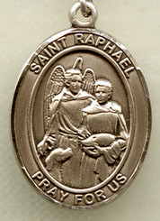 "St. Raphael - .75"" - Gold Filled Medal"