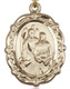 Floral St. Raphael Medal - gold filled