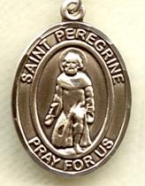 "$76.50 - St. Peregrine - .75"" - Gold Filled Medal"