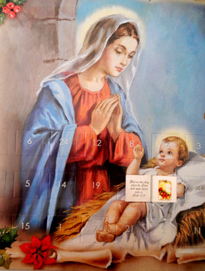 Mother Mary with Holy Child Advent Calendar