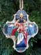 Nativity Cross Ornament