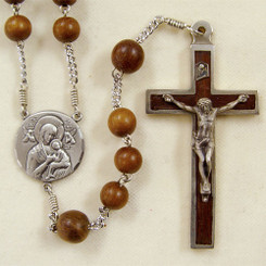 Our Lady of Perpetual Help robles wood rosary