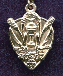 Blessed Sacrament Medal - Gold Filled