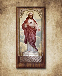 Sacred Heart Holy Water Font