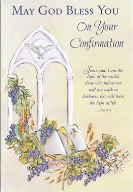 May God Bless You Confirmation Greeting Card
