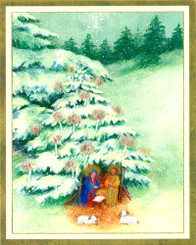 Wintry Christmas Night Christmas Cards