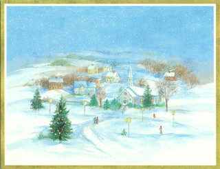 Christmas Village Christmas Cards