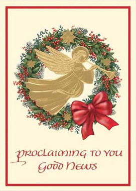 Proclaiming to You Good News Christmas Card