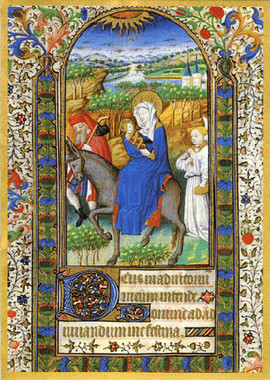 The Flight into Egypt Christmas Card
