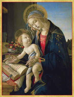 Virgin Teaching the Infant Jesus Christmas Cards