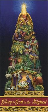 Religious Christmas Tree Christmas Card