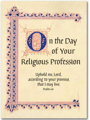 Religious Profession Greeting Card
