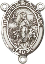 "Lord Is My Shepherd - .75"" Oval - Sterling Silver Centerpiece"