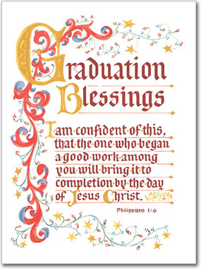 Graduation Blessings Greeting Card
