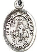 "Lord Is My Shepherd - .50"" Oval - Sterling Silver Side Medal"