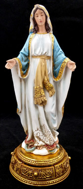 Our Lady of Grace resin statue