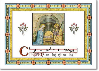 Gregorian Chant Christmas Card