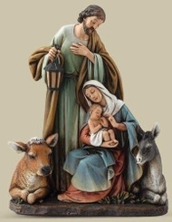 Holy Family with Animals Figurine