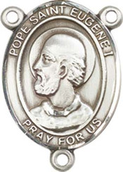 "Pope Saint Eugene I - .75"" Oval - Sterling Silver Centerpiece"