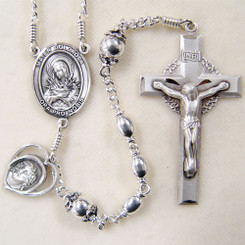 Sterling silver passion rosary