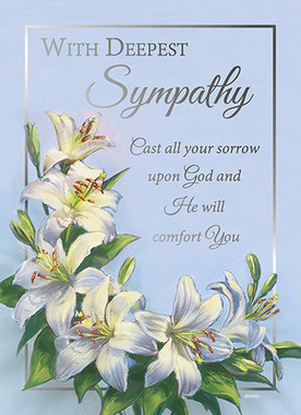 sisters of carmel with deepest sympathy greeting card