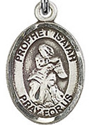 "Prophet Isaiah - .50"" Oval - Sterling Silver Side Medal"