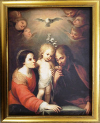 Holy Family framed religious art