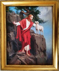 Good Shepherd Religious art framed print