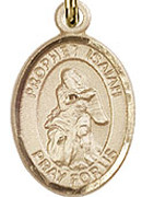 "Prophet Isaiah - .50"" Oval - Gold Filled Side Medal"
