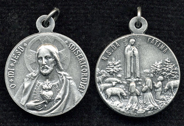 Our Lady of Fatima / Sacred Heart medal