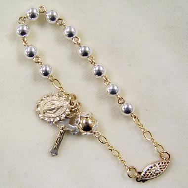 Two-Tone Rosary Bracelet