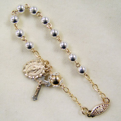 Two-Tone Rosary Bracelet