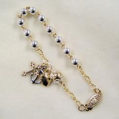Faith, Hope, and Charity Rosary Bracelet