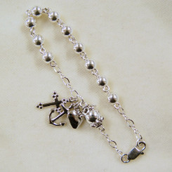 Faith, Hope, and Charity Rosary Bracelet