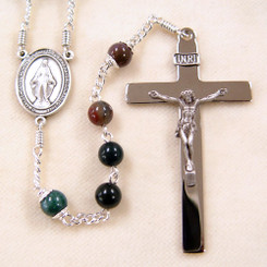 Simple Indian Bloodstone Rosary