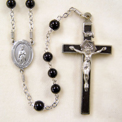 Black Onyx Our Lady of Fatima Rosary