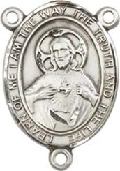 "Scapular - .75"" Oval - Sterling Silver Centerpiece"