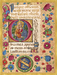 Illuminated Virgin and Child Christmas Cards