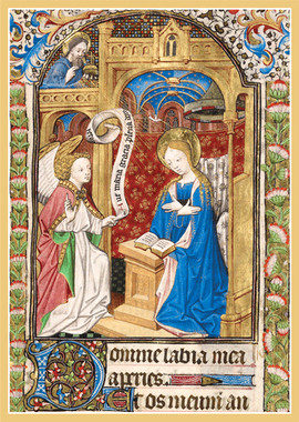 Illuminated Annunciation Christmas Cards