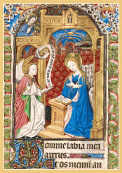 Illuminated Annunciation Christmas Cards