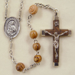 Olive Wood Our Lady of Mount Carmel Rosary