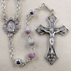 Pink and White Rosary