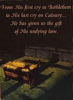 Crib to Cross Christmas Card