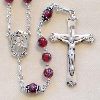 Garnet Sacred Heart Rosary