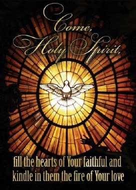 Stained Glass Holy Spirit Confirmation Greeting Card