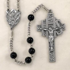 Black Onyx First Communion Rosary