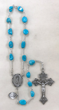 Our Lady of Guadalupe Arizona Turquoise 1-decade Rosary