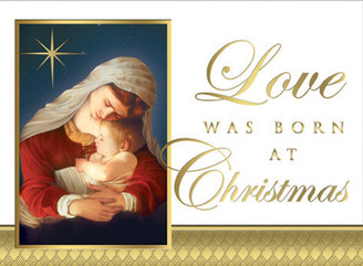 Love Was Born Christmas Cards